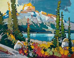 Cameron Bird, 'Building Storm Over, Mt. Chephren', 22'' x 28'' | Galerie d'art - Au P'tit Bonheur - Art Gallery