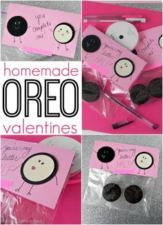 Homemade Oreo Valentines - Mad in Crafts