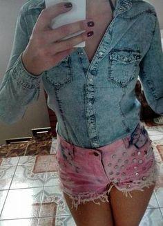 jeansowa koszula maffashion Bermuda Shorts, Casual Shorts, Asos, Zara, Women, Fashion, Moda, Fashion Styles, Fashion Illustrations
