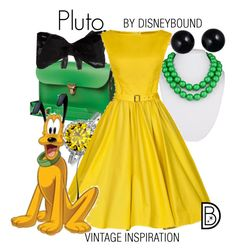 Pluto by leslieakay on Polyvore featuring polyvore, fashion, style, N'Damus, Fornash, Bling Jewelry, Lord & Taylor, Coast, clothing, disney and disneybound