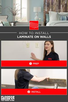 In this short but thorough how-to video you will learn how easy it is to install laminate on your walls. With a few tools and a free weekend you can turn a drab wall into a beautiful focal wall. Focal Wall, Wood Stone, Floor Decor, Walls, Style Inspiration, Flooring, Learning, Tips, Projects