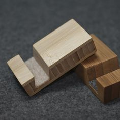 Bamboo Plywood Phone Stand for iPhones and most by woodworksRD, $10.00