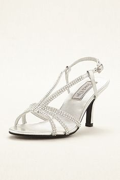David's bridal $59.95 8W  might be online only though Lyric Sandal by Touch Ups