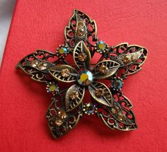 vintage brooch antique gold