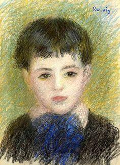 Pierre Auguste Renoir Portrait d'un jeune garçon 1879
