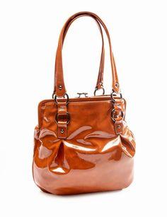Copper Patent Handbag from eloquii.com
