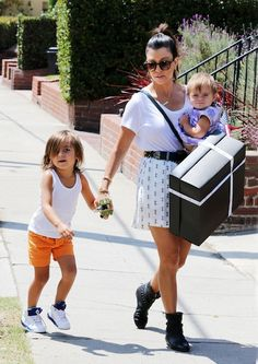 Kourtney, Mason and Penelope.