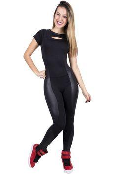 Macacão Liso com Detalhe Cirrê Workout Attire, Workout Wear, Sport Outfits, Summer Outfits, Fitness Fashion, Fitness Style, Fitness Outfits, Fitness Wear, Body Fitness
