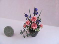 A miniature flower arrangement