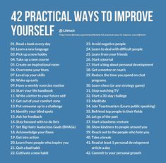 Improve yourself!!!