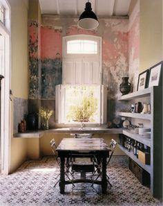 Cuban Interior Design and a Recipe for Cuba Libre Decor, Kitchen Interior, House Design, Interior, Home, Interior Walls, House Interior, Home Deco, Interior Design