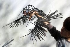 Making Crow puppets for Theatre Production - 'Into the Woods' - Artist Duncan…