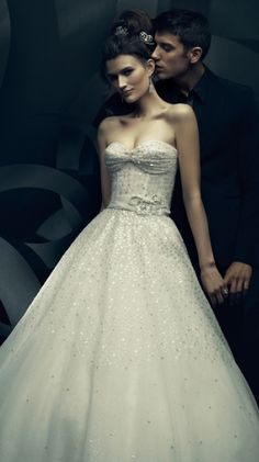 Ines Di Santo Sequin Embellished Bridal Gown (Spring/Summer 2011)