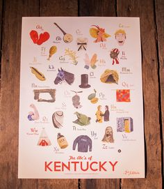 """ABC's of Kentucky"" Print 2nd Edition 
