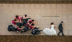 Cute and unique wedding photo.