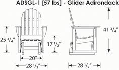 Adirondack Glider Chair Plans - WoodWorking Projects & Plans