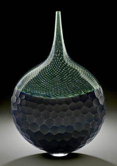 Patrick Primeau / Untitled Vase / 2006 /   Blown glass, reticello, battuto, incalmo