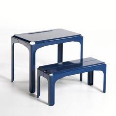 Table ronde contemporaine en bois et m tal sputnik for Bureau enfant la redoute