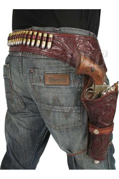 holster Custom Leather Holsters, Western Holsters, Cowboy Action Shooting, Revolver Pistol, Cowboy Gear, Western Look, Gun Holster, Guns And Ammo, Hand Guns