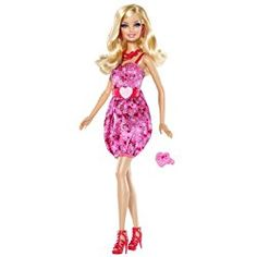 Barbie I Love Valentines! Celebrate Valentines Day with Barbie. Makes the perfect Valentines Day gift. Come dressed in a sweet Valentine-themed outfit. Includes a heart-shaped Barbie ring to wear. Barbie Go, Barbie World, Barbie And Ken, Pink Barbie, Valentines Day Book, Valentine Gifts, Barbie Birthday, Valentine's Day, Themed Outfits
