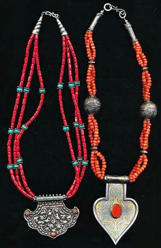 Tribal Coral and Sterling Silver.