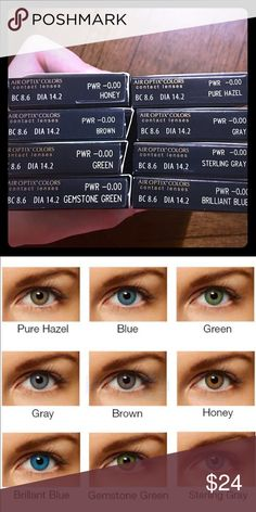 Color contacts – 1 pair of Air Optix monthly contacts SUBTUNE Colors: Blue, Gray, … – Colored Contacts Bloğ Black Contact Lenses, Prescription Colored Contacts, Cosplay Contacts, Sterling Grey, Color Contacts, Gray Green, Vibrant Colors, Pure Products, Gemstones