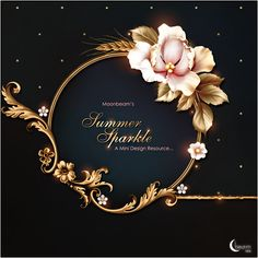 Moonbeam's 'Summer Sparkle' combines sugar flowers and golden leaves, carefully complemented by golden wheat ears, sprinkled with spar… in 2019 Framed Wallpaper, Graphic Wallpaper, Wedding Logos, Wedding Cards, Nail Logo, Lashes Logo, Luxury Logo, Floral Logo, Ornaments Design