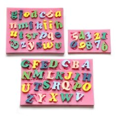 3Pcs Letters & Numbers Fondant Cake Molds Soap Chocolate Mould
