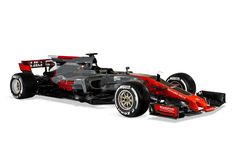 Nieuwe Formule 1-auto Haas 2017. www.auto-zaken.com/veiligheid