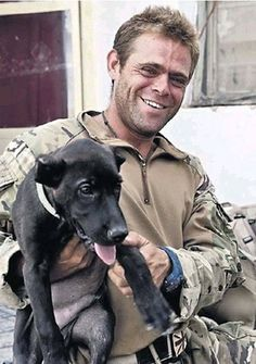 A BRITISH HERO !! Happy now!...tortured dog saved by a Royal Marine in Afghanistan #military
