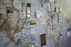 Map DIY wall decoration for travelers
