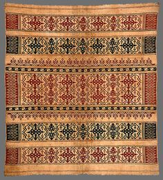 Paminggir people Ceremonial textile [tampan] Lampung Sumatra Indonesia cotton, natural dyes