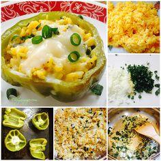 #Receta de Morrones Verdes Rellenos de Arroz #cocina #hogarmujer