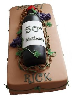 Wine bottle cake: