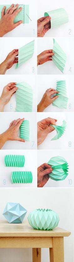 een origami waxinelichthouder vouwen | http://www.woonschrift.nl/een-origami-waxinelichthouder-vouwen/
