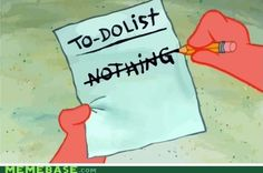 My To-do List on the Weekend