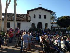 Concerts in the Plaza. Mission San Luis Obispo.