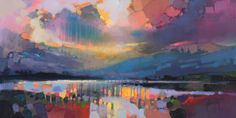 Lomond Light | scottish abstract landscape painting | Scott Naismith