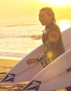 Coco Ho after a sunrise session at #BellsBeach