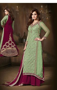 Ravishing Mint Green Bollywood Palazo Salwar Kameez
