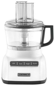 KitchenAid - 7-Cup Food Processor - White