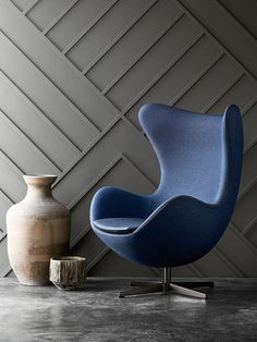 Egg Chair - Arne Jacobsen I'm likeing the rear wall texture and color.