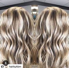 Blonde Balayage by stylist Katelyn at Collage Salon.