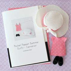 Summer Outfit Pattern Kit for Pocket Poppets  by Gingermelon, $10.50