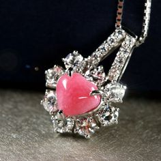 コンクパール1.1ct ダイヤモンド0.7ct ハートシェイプ プラチナ ネックレス