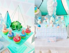 Jaime's Geometric Fox Themed Party – Sweets Geometric Fox, Party Themes, Party Ideas, Party Sweets, Birthday Cake, Desserts, Food, Tailgate Desserts, Deserts