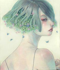 Illustrations by Miho Hirano Art Et Nature, Art Manga, Manga Girl, Art Asiatique, Art Japonais, Art Et Illustration, Japan Art, Japanese Artists, Traditional Art