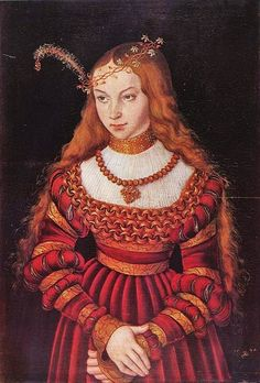 Its About Time: 1500s Women attributed to father & son Lucas Cranach, Northern Renaissance Painters & their workshops - Portait of Princess Sibylle von Cleve als Braut