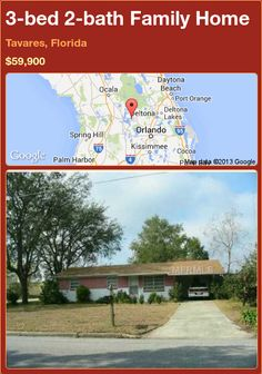 3-bed 2-bath Family Home in Tavares, Florida ►$59,900 #PropertyForSale #RealEstate #Florida http://florida-magic.com/properties/91960-family-home-for-sale-in-tavares-florida-with-3-bedroom-2-bathroom