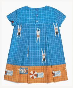 Swimmer's Print Dress | Milk & Biscuits